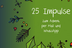 Adventsimpulse per E-Mail und WhatsApp